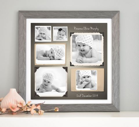 Personalised Photo Memories Collage Canvas Or Print